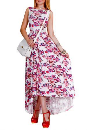 Платье Patricia B.. Цвет: молочный, розовый, серый