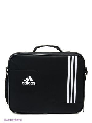 Портфель Adidas. Цвет: черный