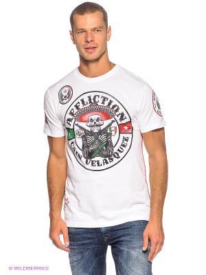 Футболка Affliction. Цвет: белый, черный, зеленый, красный