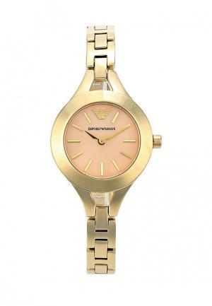 Часы Emporio Armani. Цвет: золотой