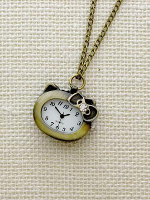 Кулон-часы Милая Китти Mitya Veselkov. Цвет: бронзовый