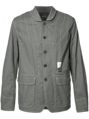 Куртка на пуговицах Undercover. Цвет: серый