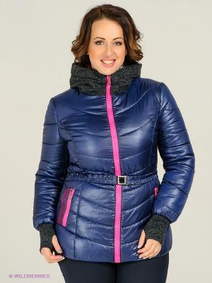 Куртка Alisa Line. Цвет: синий