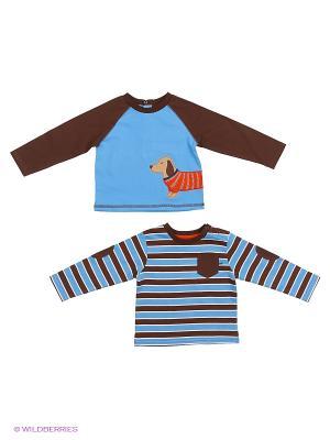 Комплект из 2-х предметов Такса: 2 кофты Little Me. Цвет: голубой, коричневый