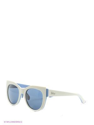 Солнцезащитные очки CHRISTIAN DIOR. Цвет: белый, голубой