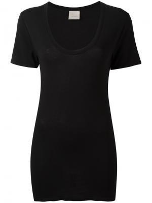 Облегающая футболка Laneus. Цвет: чёрный