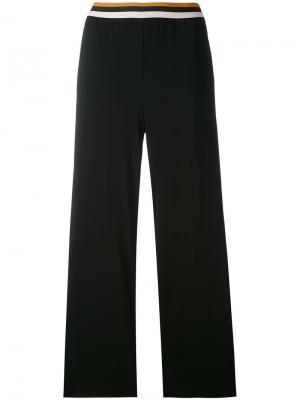 Укороченные брюки прямого кроя Jucca. Цвет: чёрный