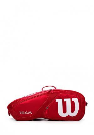 Сумка спортивная Wilson. Цвет: красный