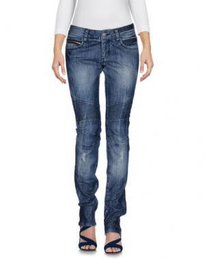 Джинсовые брюки POORICH. Цвет: синий