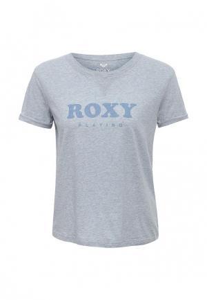 Футболка Roxy. Цвет: синий