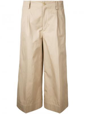 Укороченные брюки 08Sircus. Цвет: телесный
