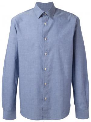 Классическая рубашка Sunspel. Цвет: синий