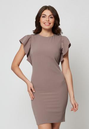 Платье Alex Lu. Цвет: бежевый