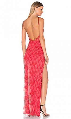 Вечернее платье motel jay Gemeli Power. Цвет: красный
