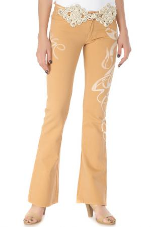 Расклешенные брюки с застежкой на молнию Voyage. Цвет: 0009, w горчичный