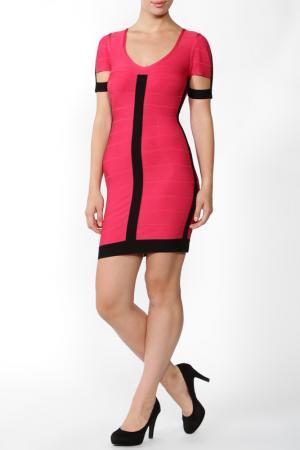 Платье Herve Leger. Цвет: розовый