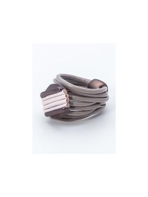 Кольцо Krikos. Цвет: коричневый, бежевый, розовый