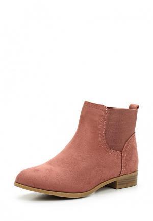 Ботинки Ideal Shoes. Цвет: розовый