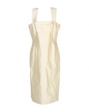 Платье до колена IVAN MONTESI. Цвет: бежевый