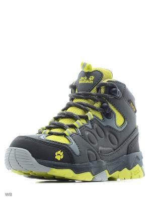 Ботинки MTN ATTACK 2 TEXAPORE MID K Jack Wolfskin. Цвет: темно-бежевый