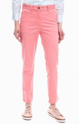 Укороченные брюки чиносы Gant. Цвет: розовый
