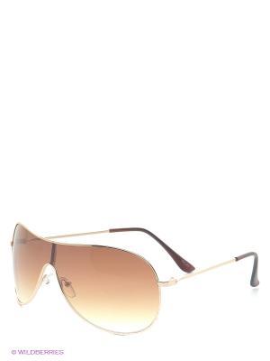 Солнцезащитные очки INCITY. Цвет: золотистый, коричневый