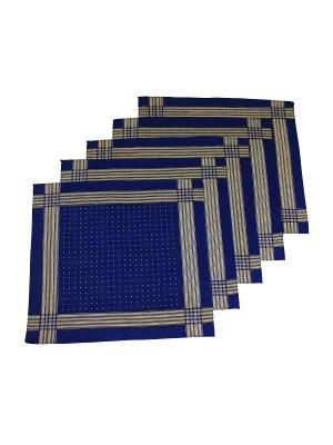 Платок, 10 шт Римейн. Цвет: синий, желтый