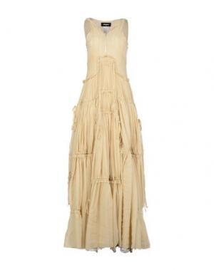 Длинное платье DSQUARED2. Цвет: бежевый