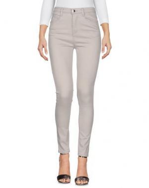 Джинсовые брюки YES ZEE by ESSENZA. Цвет: светло-серый