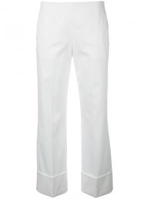 Укороченные широкие брюки Fay. Цвет: белый