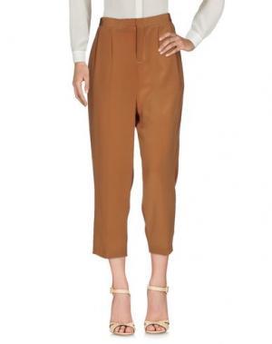 Повседневные брюки ADELE FADO QUEEN. Цвет: коричневый
