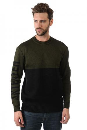 Свитер  Sweater Black Haki Anteater. Цвет: черный,зеленый