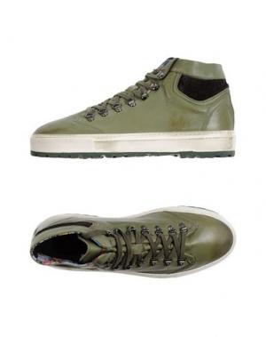 Высокие кеды и кроссовки YAB. Цвет: зеленый-милитари