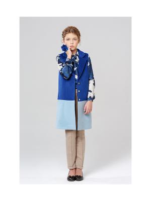 Удлиненный жилет MORU. Цвет: синий, голубой