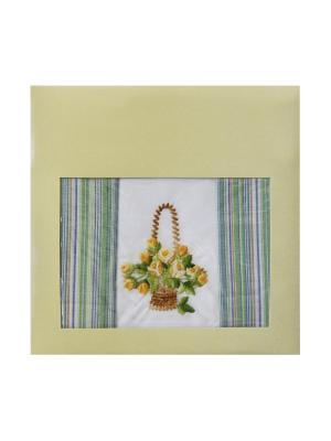Платки носовые ZLATA KORUNKA. Цвет: серо-зеленый, голубой
