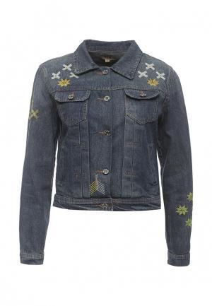 Куртка джинсовая QED London. Цвет: синий