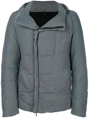 Стеганое пальто на молнии Masnada. Цвет: серый