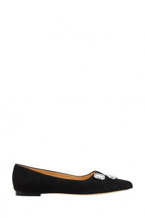 Туфли с кристаллами Bionda Castana. Цвет: черный