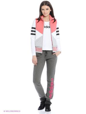 Жилет W FT CB PDD VST Adidas. Цвет: белый, серый, розовый