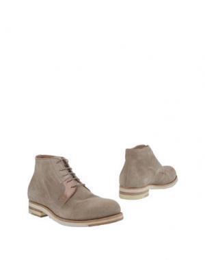 Полусапоги и высокие ботинки PANTANETTI. Цвет: песочный