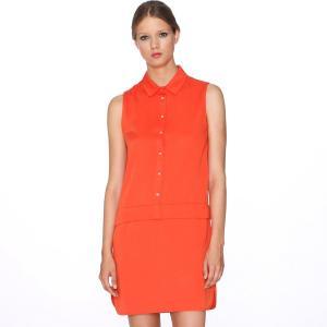 Платье без рукавов , Dress Amaia PEPALOVES. Цвет: красный