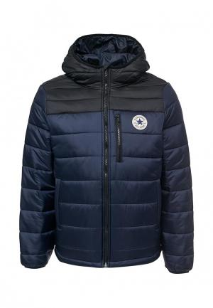 Куртка утепленная Converse. Цвет: синий