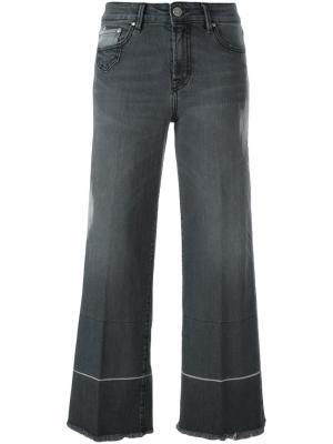 Укороченные джинсы кроя буткат Dont Cry Don't. Цвет: серый