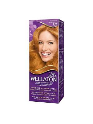 Крем-краска для волос стойкая 9/5 Роза пустыни WELLATON. Цвет: фиолетовый