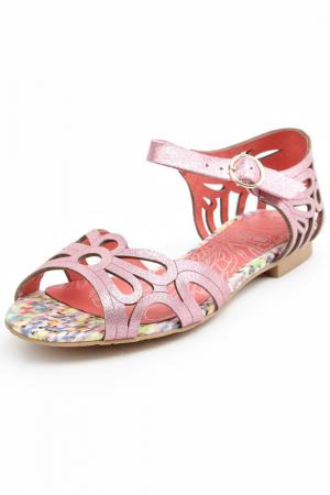 Туфли летние открытые Svetski. Цвет: розовый
