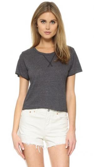 Укороченная футболка Annie LNA. Цвет: гранит