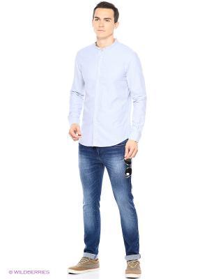 Рубашка Reserved. Цвет: бежевый, голубой