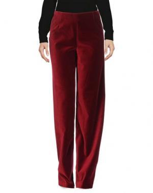 Повседневные брюки LAVINIATURRA. Цвет: красно-коричневый