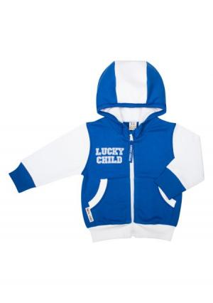Комплект: кофта и брюки Lucky child. Цвет: синий