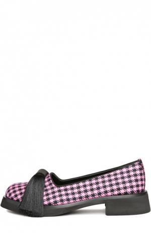 Текстильные лоферы Aleksander с кисточками Aleksandersiradekian. Цвет: розовый